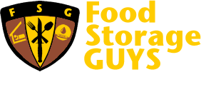 Food Storage Guys Logo, Emergency Preparedness Supplies