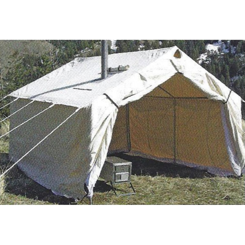 Magnum canvas wall tent 12 39 x 14 39 for How to build a canvas tent frame