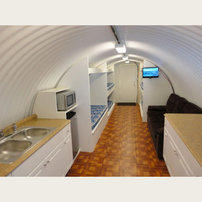 25X10 Atlas Shelter on Underground Concrete Home Plans