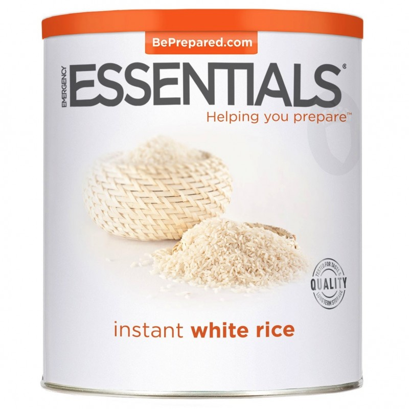 Instant White Rice : Instant white rice precooked can