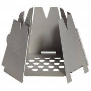 SS Hexagon Wood Stove by Vargo