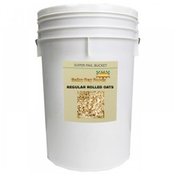 Organic Regular Rolled Oats - 20 lb - 5 gal Bucket