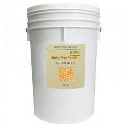 Natural Hulled Millet - 36 lb - 5 gal Bucket