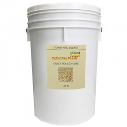 Natural Quick Rolled Oats - 23 lb - 6 gal Bucket
