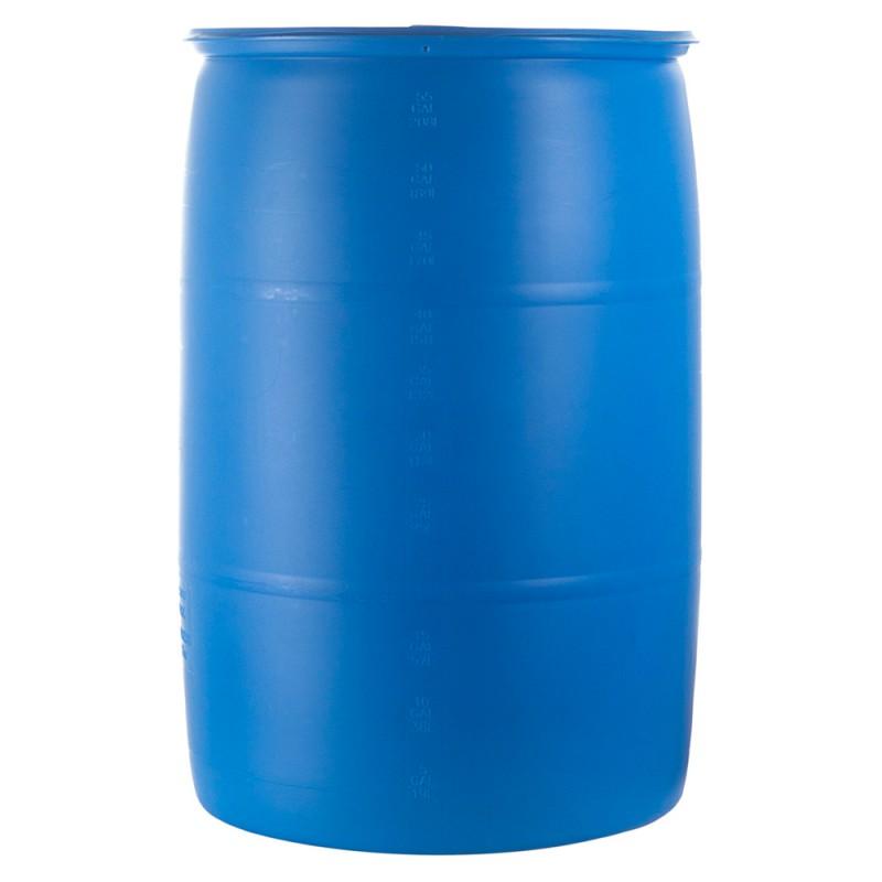 55 Gallon Water Barrel Blue