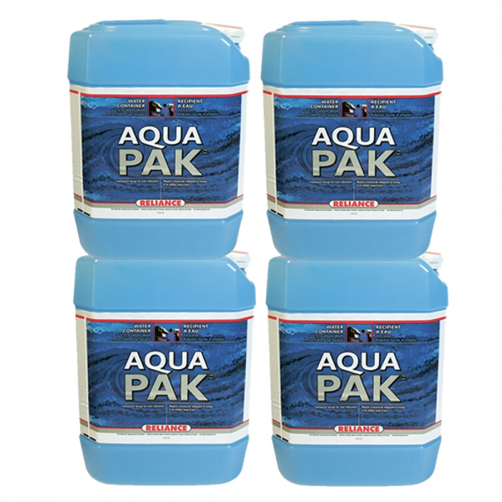 20 Gallon Stackable Water Container Kit 4 Qty