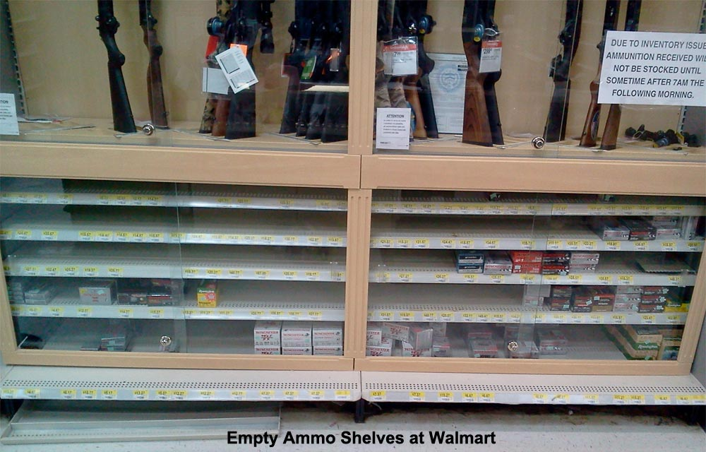 Empty Ammo Shelves