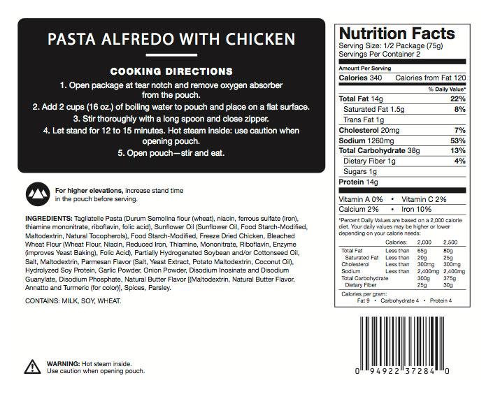 How Many Calories In Chicken Fettuccine Alfredo